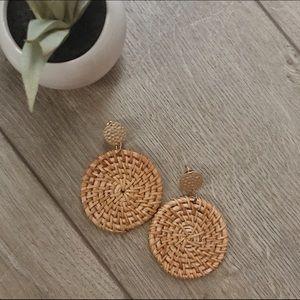 Jewelry - Round Rattan Earrings